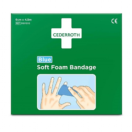 Cederroth Blue Soft Foam Bandage, 6cm x 4.5m